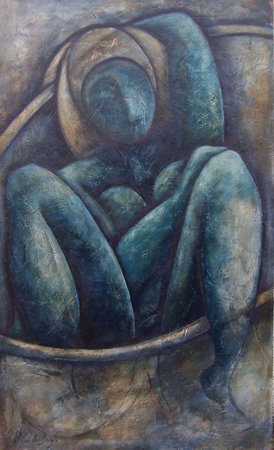 Bathing Woman by Rikki van den Berg