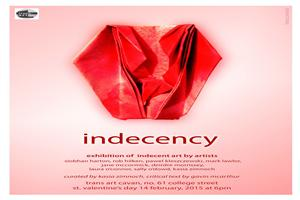 Indecency an exhibition curated by Kasia Zimnoch cupported by trans-art
